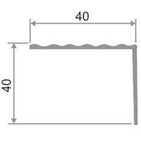 Накладной алюминиевый порог на ступень