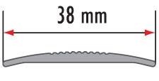 Латунный порожек, ширина 38 мм.