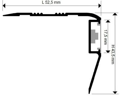 Алюминиевый профиль с подсветкой на ступени лестниц