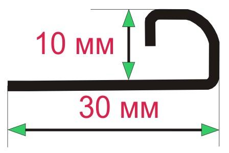 Внешний уголок для плитки 10х10 мм, толщина металла 0,8 мм.