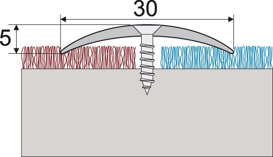 Стыкоперекрывающий порожек для пола, ширина 30 мм.