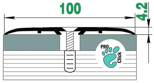 Широкий порожек для пола, ширина 100 мм.