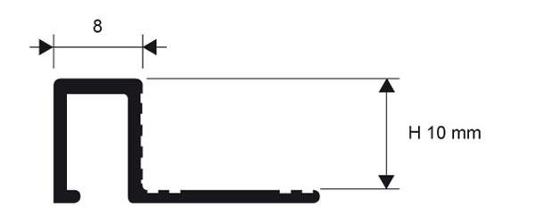Декоративная вставка на стык ламината и плитки, ширина 8 мм.