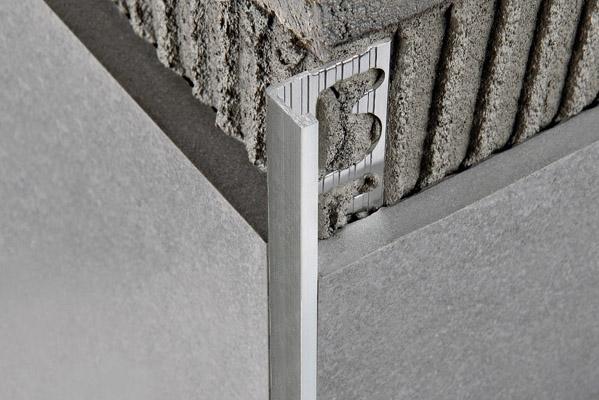 Концевой L образный профиль для плитки