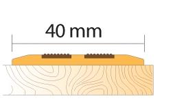 Резиновый накладной профиль Salag
