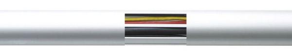 Алюминиевый напольный порожек с кабель каналом ПО-62