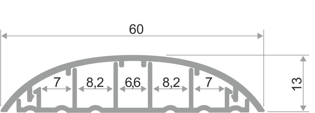 Порожек для пола с кабель каналом ПО-62