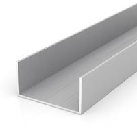 Алюминиевый швеллер 130х60х60 мм, толщина металла 5 мм.