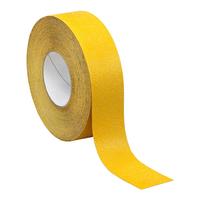 Жёлтая абразивная лента для пола 25 мм.