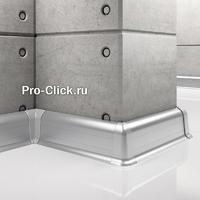 Алюминиевый плинтус для пола с кабель-каналом