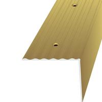 Порог на ступени лестниц 40х40 мм, Золото