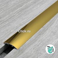 Порог со скрытым креплением, 30 мм, Золото блеск, ПО-31