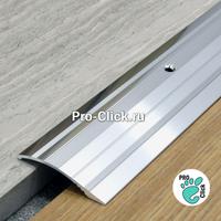 Порог с перепадом ПР-39х6 Серебро глянец