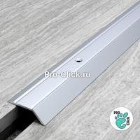 Разноуровневый порог для пола ПР-32х8 (Серебро)
