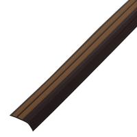 Резиновый уголок 42х15 мм, коричневый-карамель