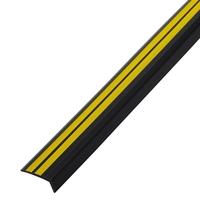 Резиновый уголок 42х15 мм, чёрно-желтый