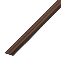 Резиновый порог 40 мм, коричневый-карамель