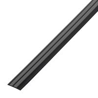 Резиновый порог 40 мм, чёрно-серый