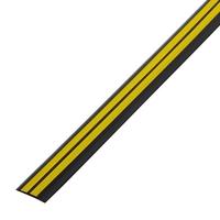 Резиновый порог 40 мм, чёрно-жёлтый