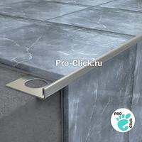 L - образный профиль из нержавеющей стали для плитки 8 мм.
