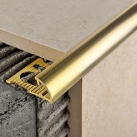 Профиль из латуни для плитки толщиной 12 мм, ЛПО-12