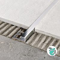 Алюминиевый профиль для плитки 10х10 мм, Серебро глянец