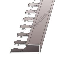 П - образный профиль для плитки 7 мм, Серебро