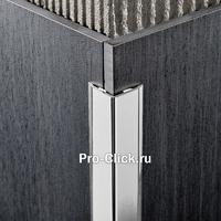 Декоративный алюминиевый уголок, Серебро глянцевое