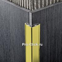 Декоративный алюминиевый уголок, Золото блестящее