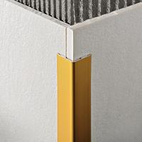 Декоративный алюминиевый уголок Золото матовое