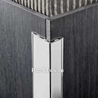 Разносторонний защитный уголок, Серебро глянцевое