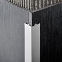 Декоративный алюминиевый уголок, Серебро матовое